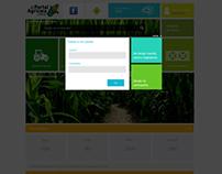 Portal Agrícola. Web design.