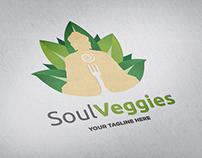 Soul Veggies Logo Template