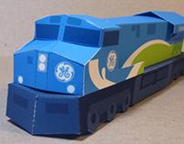 GE Evolution series paper locomotive