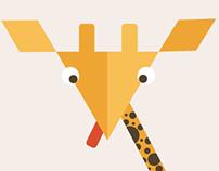 Flat Giraffe Illustration