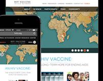 HVTN website - responsive web design, illustration