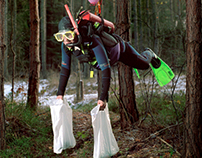 Art work / Diver in the woods