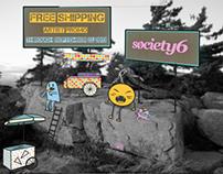 Society6 promo cards
