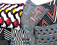 Bibu Optical Cushions Collection