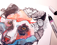 Surrealistic Wildlife by Olaliola-watercolor