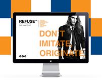 REFUSE Fall-Winter 2012 Website Design