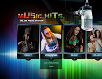 Music Hits Online Radio HTML5 Template