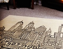 Philly One line Illustration