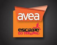 AVEA ESCAPE TO MUSIC IDENTITY & POSTER DESIGN