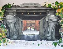 Elephant gate of Carlsberg city - 3D painting