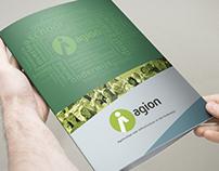 Tri-fold brochure 'AGIOn'