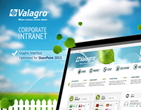 Graphic Interface - Crop Company Intranet
