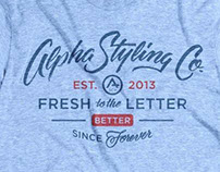Alpha Styling Co. Inaugural Tee