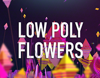 Low poly flowers