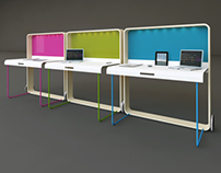Workplace for open space Bow T