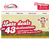 Virgin Trains email designs
