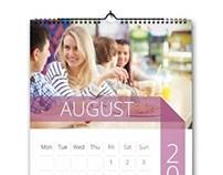 Minimal Wall Calendar 2014