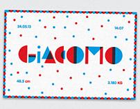 FAIRE-PART / GIACOMO