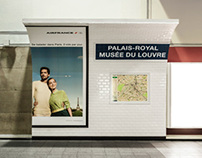 Air France - Paris' Subway in Montreal's Subway
