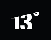 13 degrees / logo and label