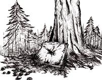 """Ilustrações """"O diário de Lirityl"""""""
