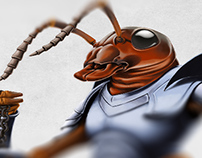 New Scientist ~ Gallant Ant Illustration