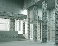 FLW - Ennis House restoration project in 3D