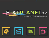 Logo & UI/UX Design for FlatPlanet.tv
