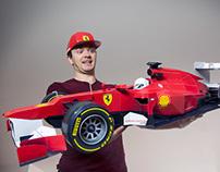 Ferrari F1 Papercraft Racer