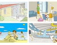Storyboard drawings