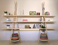 The TIPI modular shelving system for Joynout