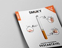 Smuky - Flyer | Cigarro Electrónico Descartável