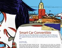Lifestyle Illustration: Smart Car Convertible