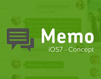 Memo - iOS7 Concept