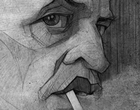 Klaus Kinski illustration sketch