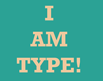 I AM TYPE poster series