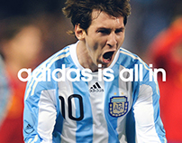 adidas all in, international visual identity