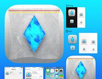 Breaking Crystals : IOS app icon (concept)