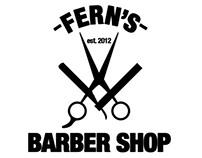 Fern's Barber Shop Logo