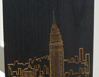 NYC one line wood engraving!!!