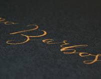 Gold Wedding Letters
