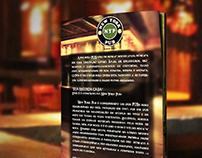 Design e Fotografia - Cardápio New York Pub.