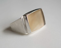 two finger square ring