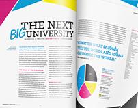 Mock Magazine-Style University Brochure