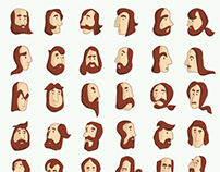 Armenian Beard Alphabet