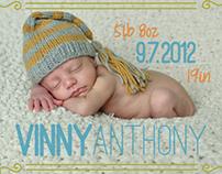 Vinny & Hazel's Birth Annoucement