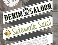 Sidewalk Sale @ Denim Saloon