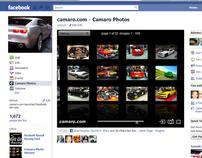 Facebook app for camaro.com