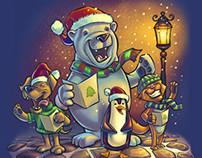 Animal Christmas Carolers