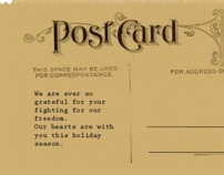 Restoration of vintage WWII era holiday cards
